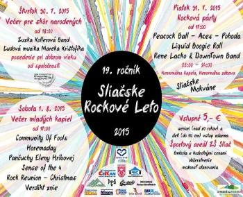 Sliacske rockove leto 2015 hudobny festival