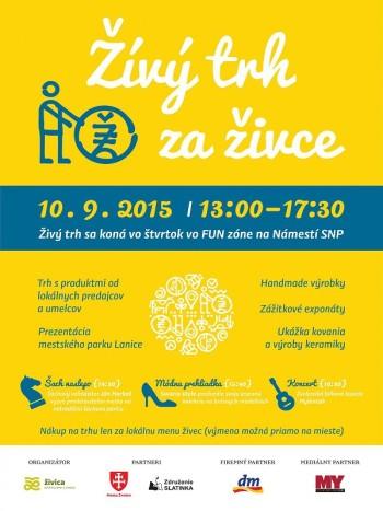 Zivy trh za zivce_10.9.2015_Namestie SNP, Zvolen, Fun zona trh s produktmi lokalnych predajcov a umelcov