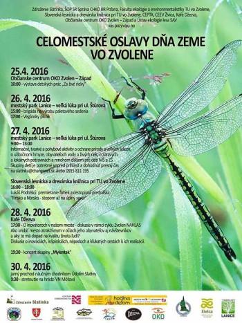 25.04.- 25.04.2016 program pri prilezitosti oslav Dna Zeme