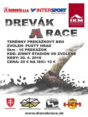 Drevak race 30.04.2016 6 km beh na Pusty hrad s prekazkami
