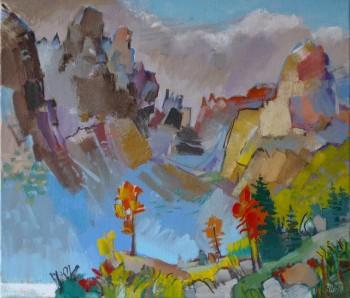 Dolina Zeleného Plesa II., 2011, olej, 60x70