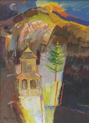 Spoza vrch Polany, 2007,  olej, 110x80 cm