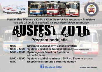 Busfest 2016 historicke autobusy na Namesti SNP vo Zvolene