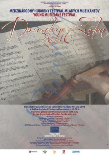 Douzelage 2016 10. jul 2016 Kralovska sien Zvolenskeho zamku Medzinarodny hudobny festival mladych muzikantov